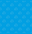 igloo pattern seamless blue vector image