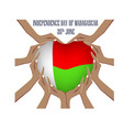 independence day of madagascar with vector image vector image