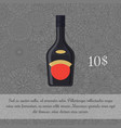 liquor in black bottle card template vector image vector image