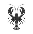 lobster silhouette icon on white background vector image vector image