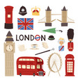 london travel icons english set city flag europe vector image