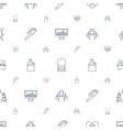 meeting icons pattern seamless white background vector image vector image