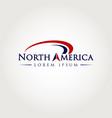 north america logo symbol icon vector image