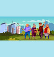 old people with selfie stick pensioners vector image vector image