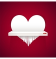 Paper Heart is Cut into Shredder vector image