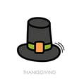 Pilgrim hat icon Harvest Thanksgiving vector image