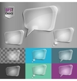 Rectangle glass speech bubble icons with soft vector image vector image