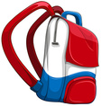Schoolbag in red and blue vector image vector image