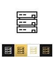 Server or computer data storage icon vector image vector image