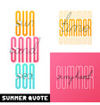 set summer hand drawn brush font letterings vector image vector image