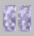 set vertical banners with stars and circles vector image vector image