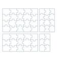 sets puzzle pieces 2 x 3 vector image vector image