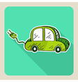 sketch style green electric car vector image
