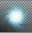 spiraling blue vortex isolated and also includes vector image vector image