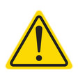 technical warning sign hazard vector image
