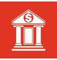 The bank icon Banking and finance symbol Flat vector image vector image