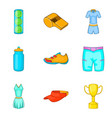 thermal underwear icons set cartoon style vector image vector image