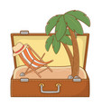 tourist trip summer travel vector image vector image