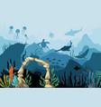 underwater sandstone arch natural underwater vector image vector image