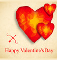 valentines polygonal background vector image vector image