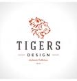 Vintage Tiger Logotype or mascot emblem vector image vector image