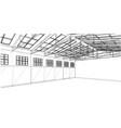 warehouse sketch rendering of 3d vector image vector image