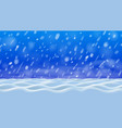 white and blue snowdrifts at ground and flying vector image vector image