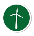 windmill silhouette energy icon vector image vector image