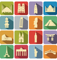 landmark set vector image