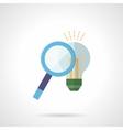 Search idea concept flat color icon vector image