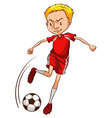 A male soccer player vector image vector image