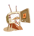A television is opend vector image vector image