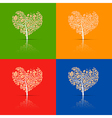 Abstract Heart-Shaped Tree Set vector image