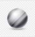 abstract metal sphere ball icon logo vector image vector image