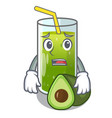 afraid avocado smoothies are isolated on vector image vector image