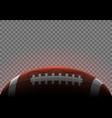 american football ball banner vector image vector image