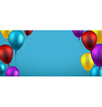 Background with colour balloons vector image vector image