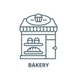 bakery line icon linear concept outline vector image vector image