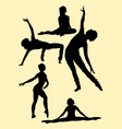 ballerina gesture silhouette vector image vector image