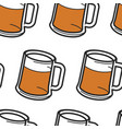 beer in mug with foam alcohol drink seamless vector image vector image