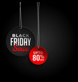 black friday sale background with offer details vector image