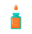 bottle of poison and drop flat icon vector image vector image