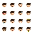 boy emoticons collection Cute kid emoji vector image