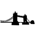 bridge tower silhouette vector image vector image