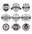 business badges set in retro vintage design vector image vector image