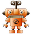 cartoon cute robot toy isolated on white backgroun vector image
