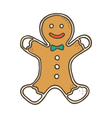 Christmas gingerbread vector image vector image
