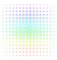clock shape halftone spectral pattern vector image vector image
