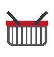 colorful shopping basket with stripes vector image