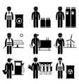 commodities energy fuel power stick figure vector image